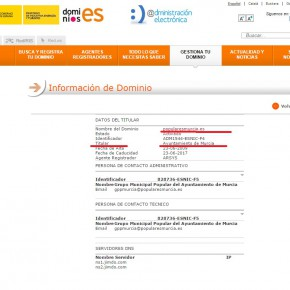 Ciudadanos exige al PP de Ballesta que aclare si está pagando con dinero público la web de su partido popularesmurcia.es