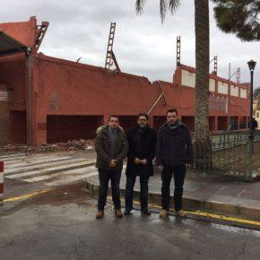 Ciudadanos promueve una iniciativa con el fin de lograr una dotación económica para la reconstrucción del pabellón Loli de Gea de Cehegín