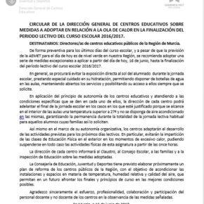 """Cs califica de """"bochornosa e insultante"""" la circular enviada hoy por Educación a los centros educativos públicos de la Región"""