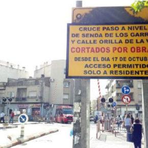 Cs exige al Gobierno local que no autorice el cierre del paso a nivel de Santiago El Mayor hasta que no esté acabado el soterramiento
