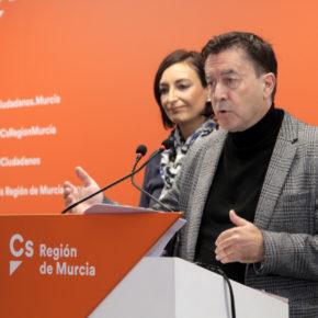 Ciudadanos apoyará la tramitación de las medidas de protección del Mar Menor a través de un proyecto de ley en la Asamblea Regional