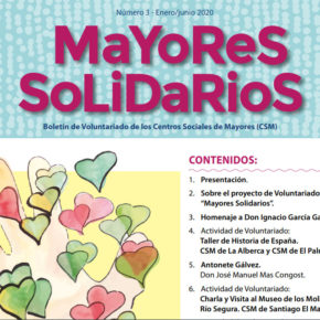 'Mayores Solidarios' dedica su boletín informativo a todos los voluntarios que hacen realidad el proyecto