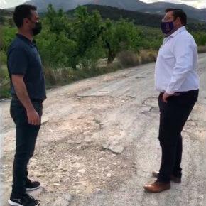 Ciudadanos reclama la cooperación intermunicipal urgente de Bullas y Mula para arreglar del firme de los caminos rurales en peor estado que unen ambos municipios