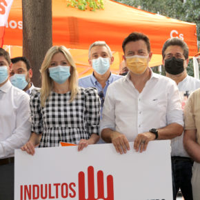 """Ciudadanos se manifiesta para decir NO a los indultos: """"No en nuestro nombre"""""""