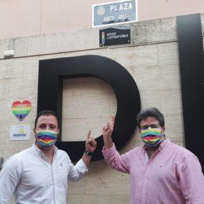 Ciudadanos Lorca celebra que el municipio cuente con una 'Plaza Arco Iris' en pleno centro histórico para visibilizar al colectivo LGTBI