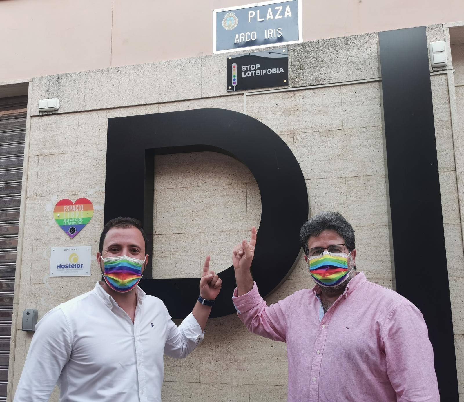 David Sánchez y Francisco Morales en Lorca Actos LGTBI
