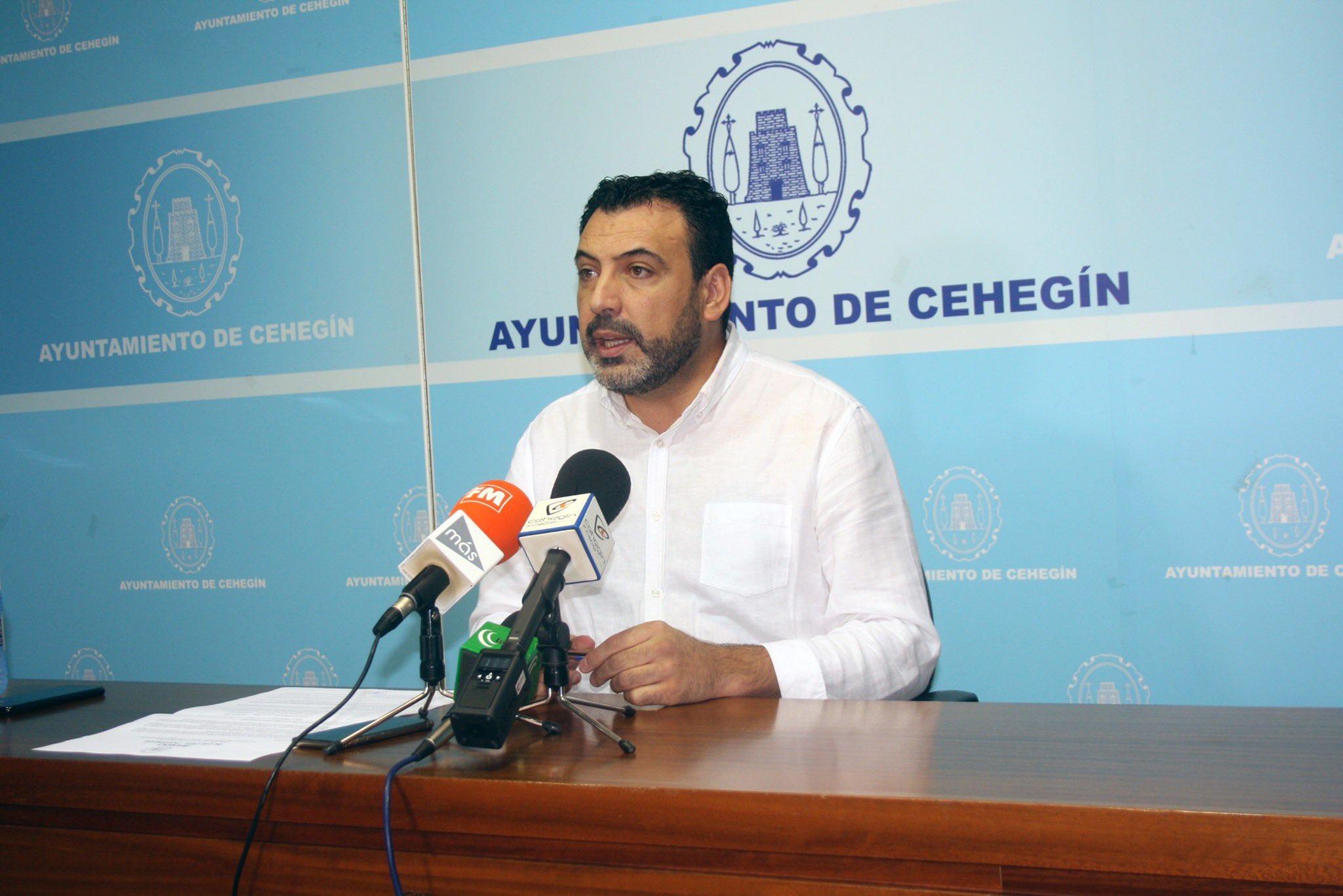 Jero Moya en RDP en el Ayuntamiento de Cehegín