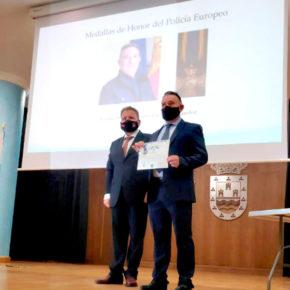 Concejal de Ciudadanos en Los Alcázares condecorado con la Medalla de Honor del Policía Europeo